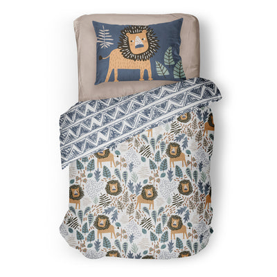 King of the Savanna - bedspread in reversible minky (single & double)