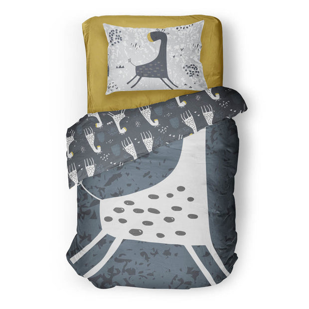 ole hop giraffe bedspread in reversible minky (single & double)