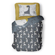 ole hop girafe literie in reversible minky (single & double)