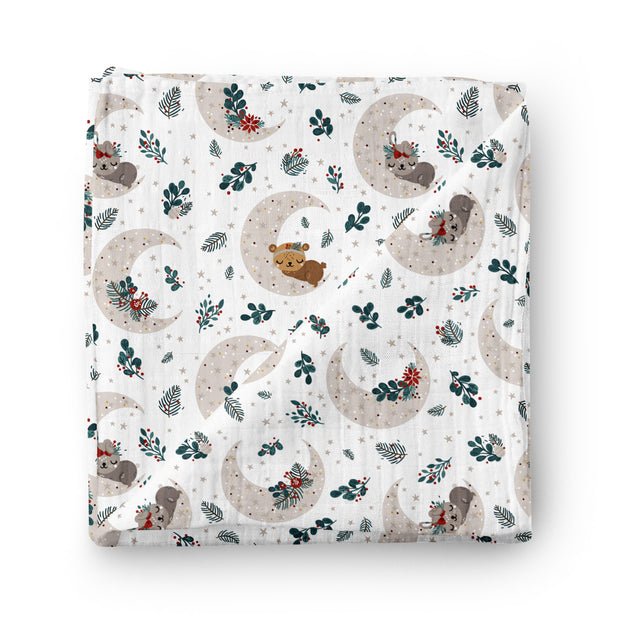 Enchanting night - bamboo muslin swaddle