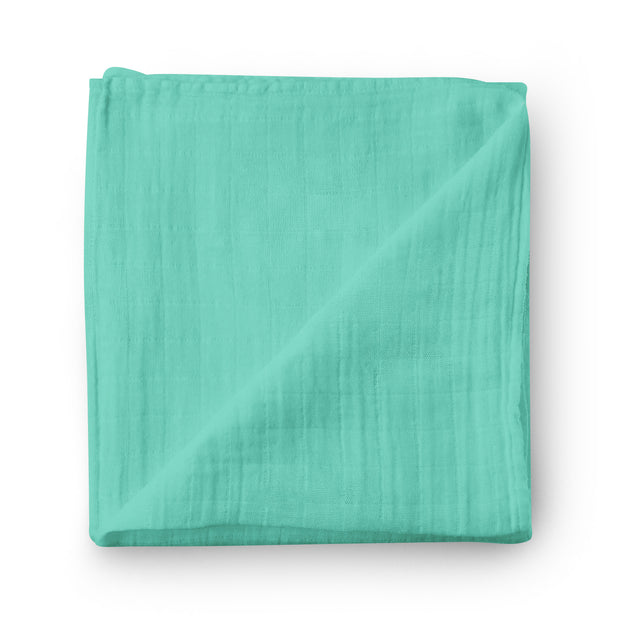 Turquoise sea - bamboo muslin swaddle