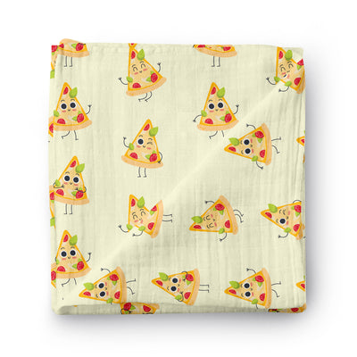 Veggie pizza - bamboo muslin swaddle