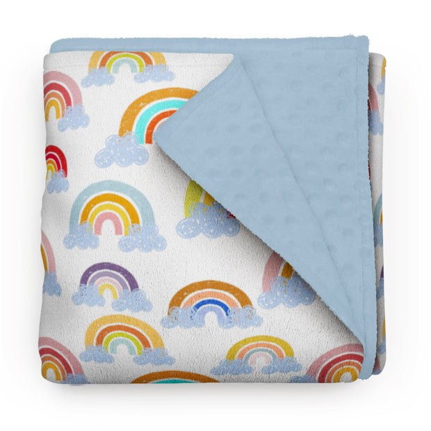 Summer rainbows - minky comforters