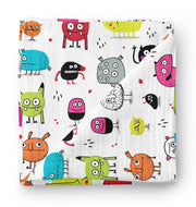 Monsters (Élise Gravel ) - bamboo muslin swaddle