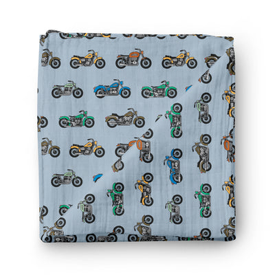 Bike race - bamboo muslin swaddle