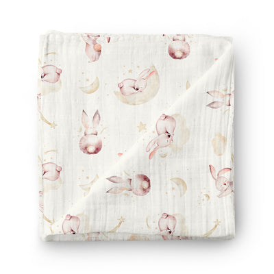 Rabbit dream - bamboo muslin swaddle