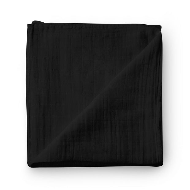 Jet black - bamboo muslin swaddle