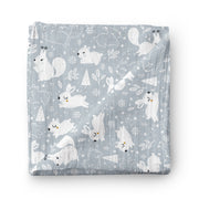 Nature trail - bamboo muslin swaddle