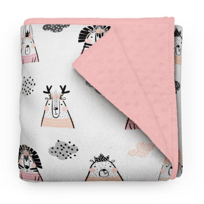 Rosy night - minky comforter