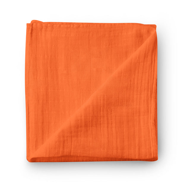 Blood orange - bamboo muslin swaddle