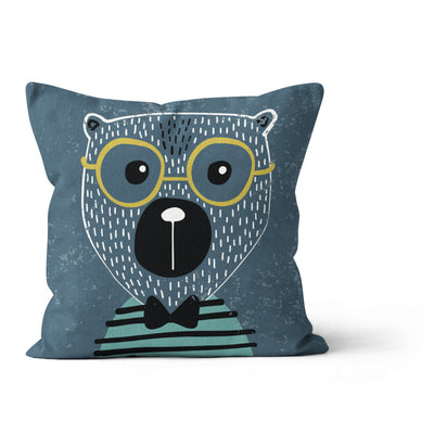 Travelling bear - cushion cover