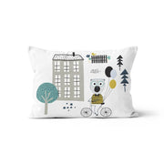 Travelling bear - minky pillowcase