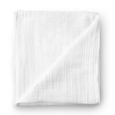 Pure white - bamboo muslin swaddle