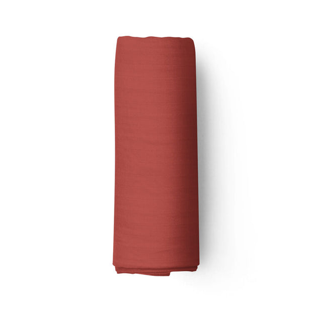 Red clay - bamboo muslin swaddle