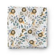 King of the Savanna - bamboo muslin swaddle