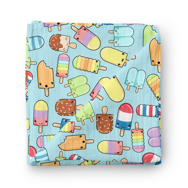 Fruity Pops - bamboo muslin swaddle