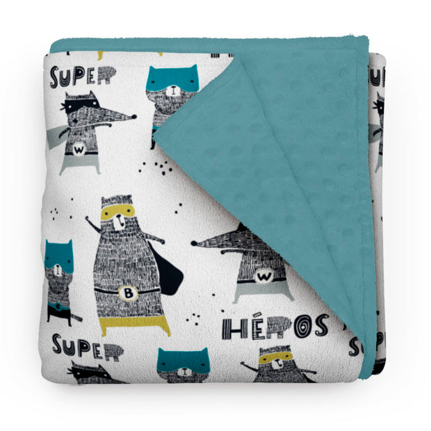 Super-friends - minky comforter