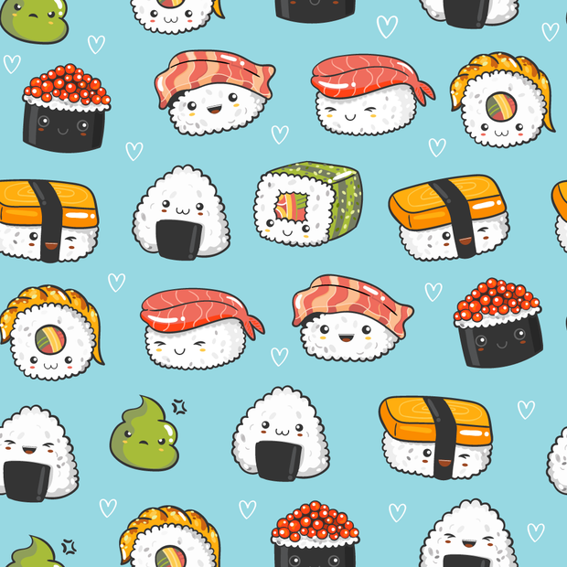 Funky sushis - minky comforters