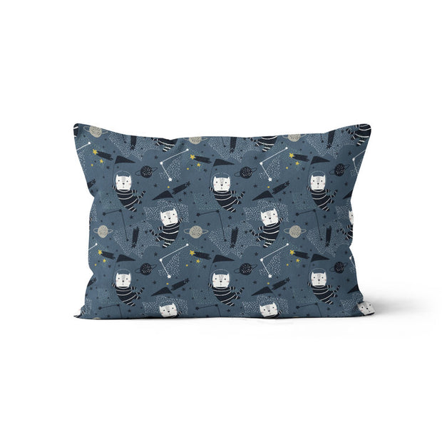 Space race - bamboo muslin pillowcase