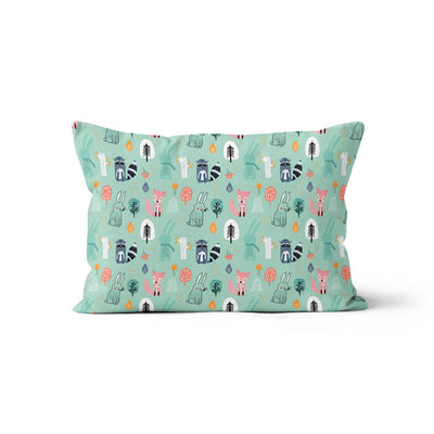 Wintry explorers - bamboo muslin pillowcase