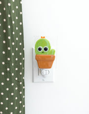 Glass Nightlight -  Gus the cacti - Veille sur toi