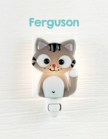 Glass Nightlight - Ferguson the cat - Veille sur toi