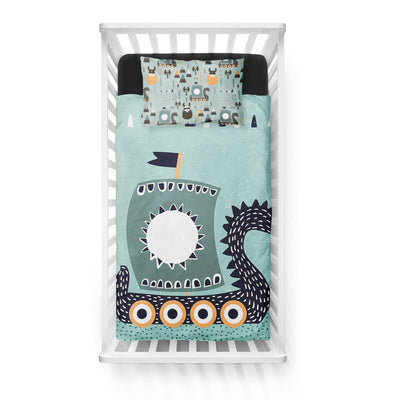 Once upon a time - bedspread in reversible minky (crib)