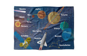 "Space Flight - ""learning"" minky comforter (French version)"