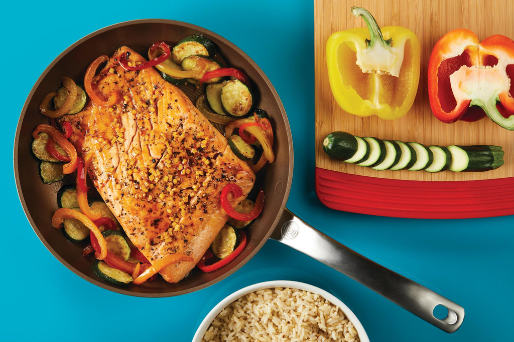 10 Minute Asian Glazed Salmon with Veggies