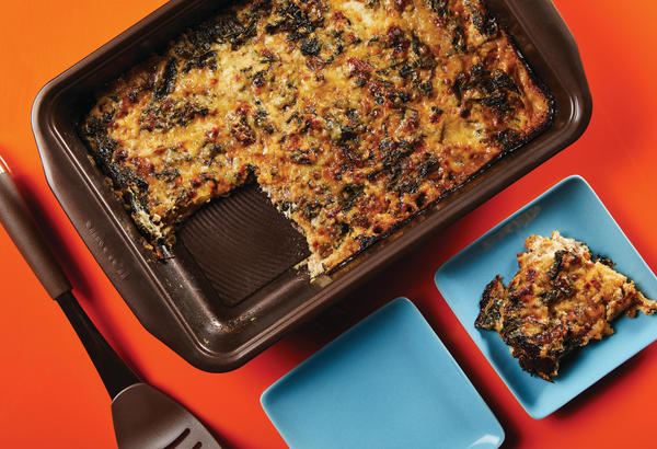 Kale and Caramelized Onion Gratin