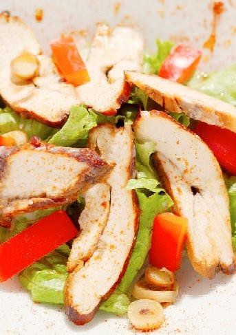 Aromatic Chicken and Cashew Salad