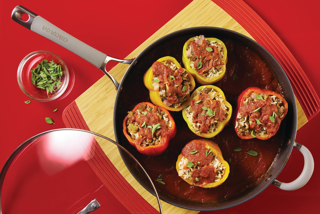 Beef and Sausage Stuffed Peppers