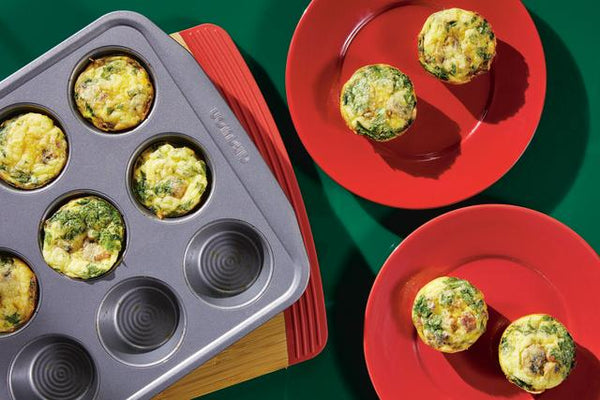Muffin Pan Frittatas with Bacon, Mushrooms and Sun-Dried Tomatoes