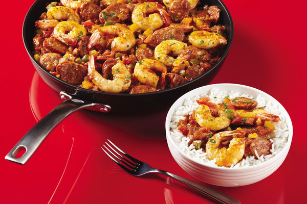 Cajun Shrimp & Andouille Skillet Dinner