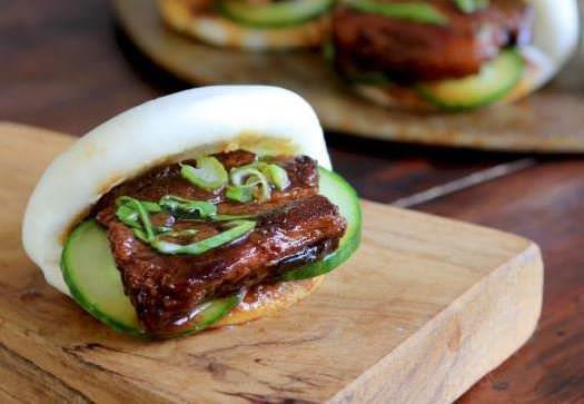 Soy Braised Pork Belly with Chinese Steamed Buns