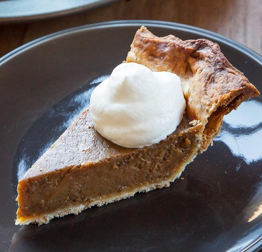 Caramel Pumpkin Pie with Rosemary Crust