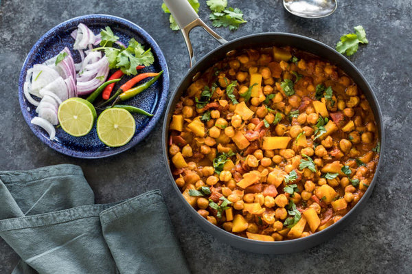 Easy Chana Aloo (Chickpeas Potato Curry)