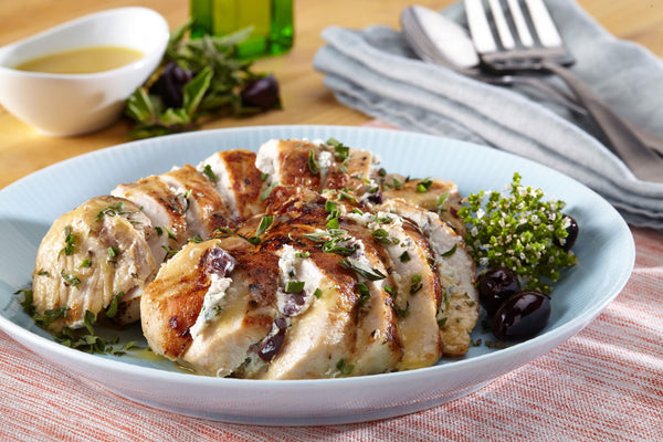 Chicken Breast Stuffed with Goat Cheese and Olives