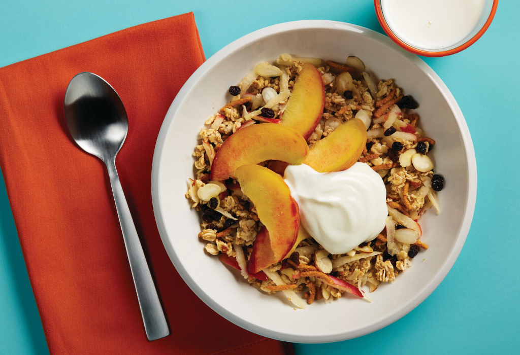 Warm Muesli with Peaches