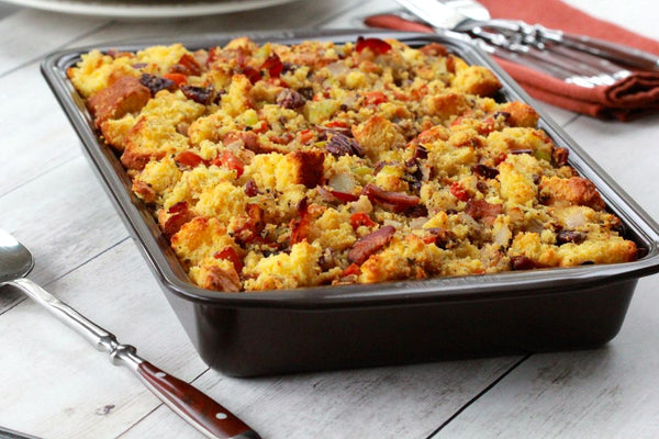Cornbread, Pecan and Bacon Dressing