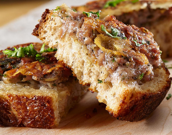 Crostini with Fennel Sausage