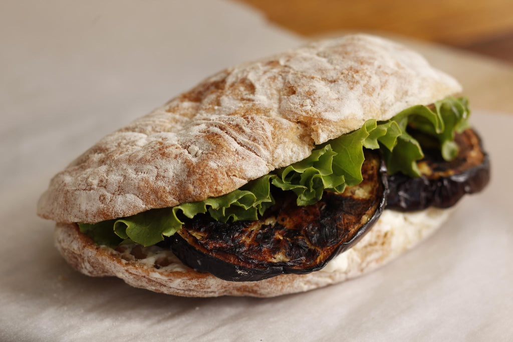 Grilled Eggplant Sandwich with Aïoli
