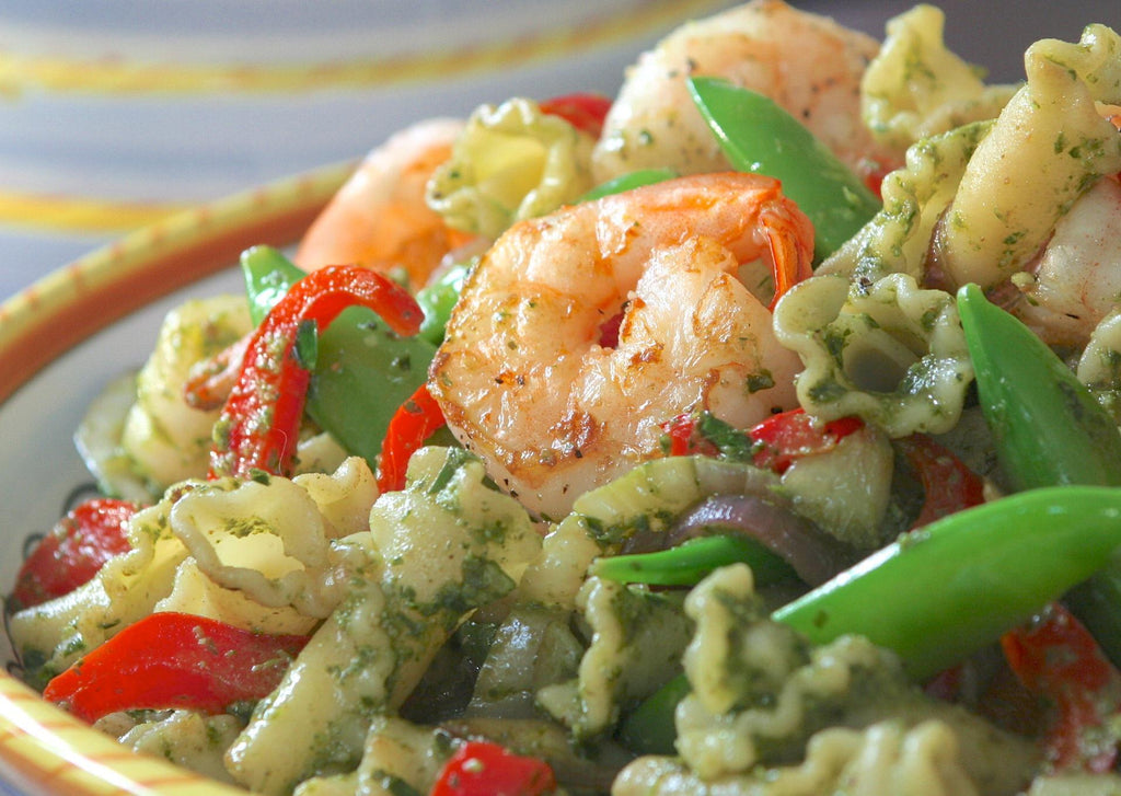 Pasta Salsa Verde with Shrimp