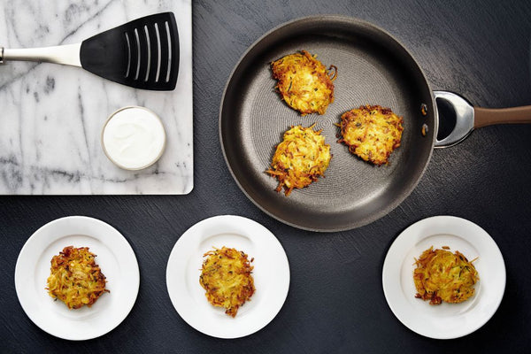 Potato, Carrot, and Zucchini Latkes