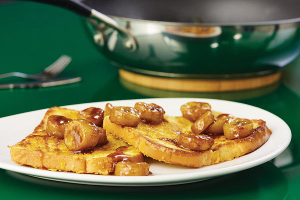 Crunchy French Toast with Sautéed Bananas
