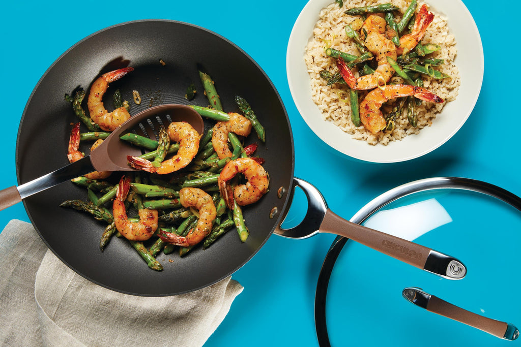 Salt and Pepper Stir-Fried Shrimp with Asparagus