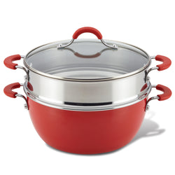 5.5-Quart Nonstick Casserole with Steamer Basket