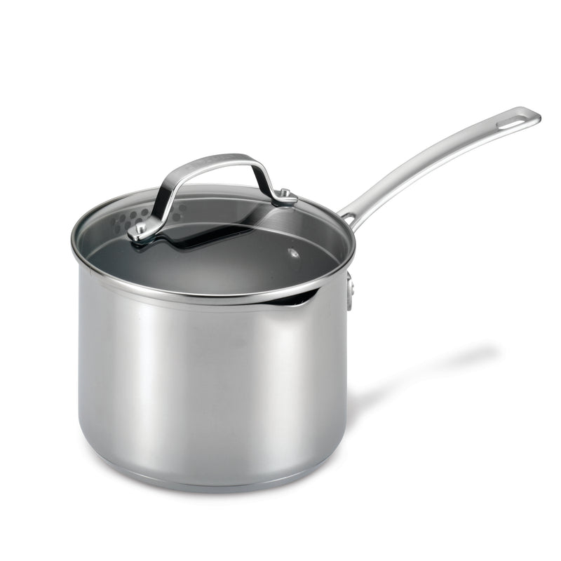 Stainless Steel Nonstick Straining Saucepan