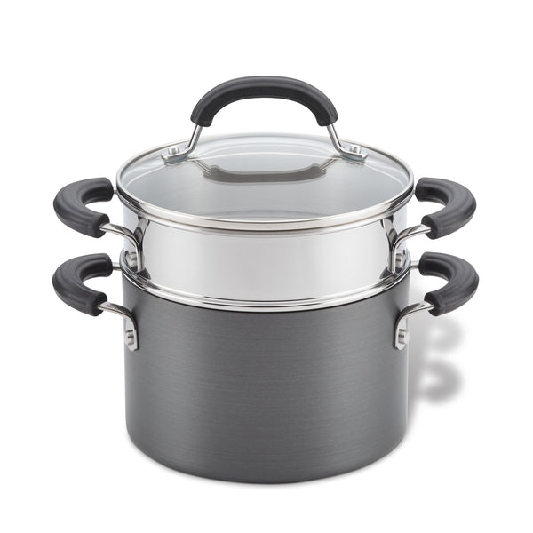 Nonstick Saucepot with Steamer Basket