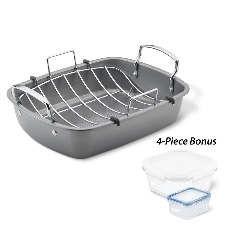 Nonstick Roaster and Leftovers Set